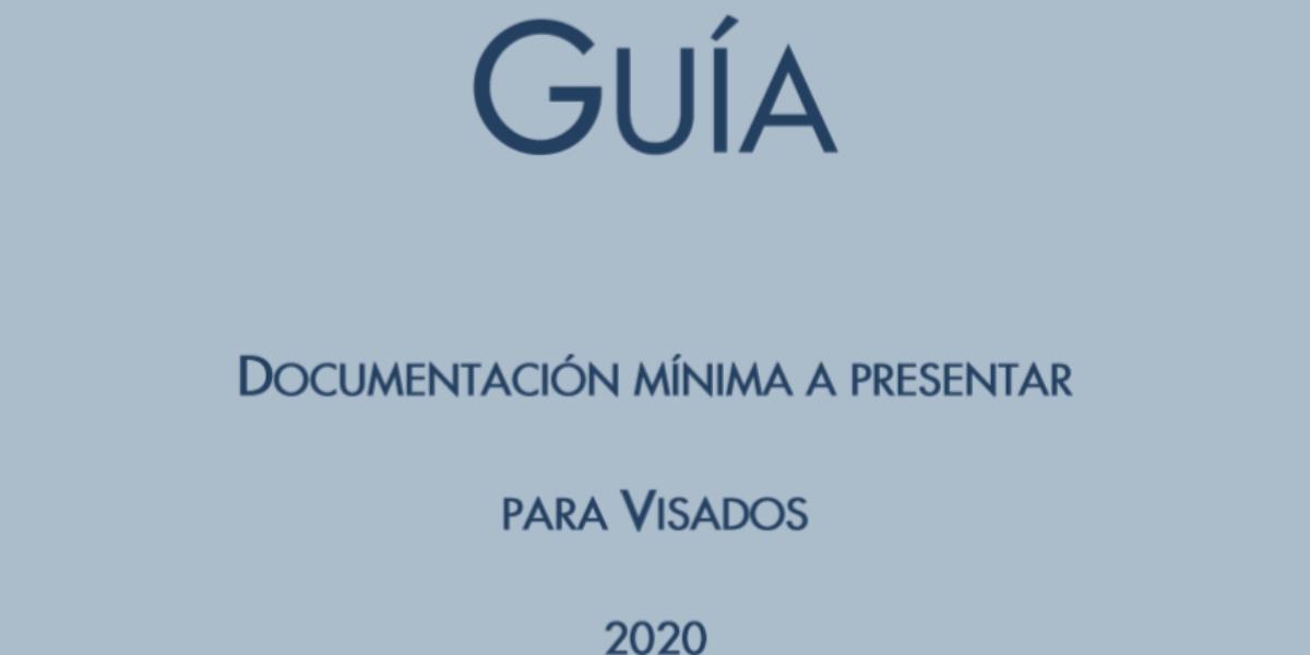 El Colegio elabora una nueva guía sobre documentación mínima a presentar  para visados