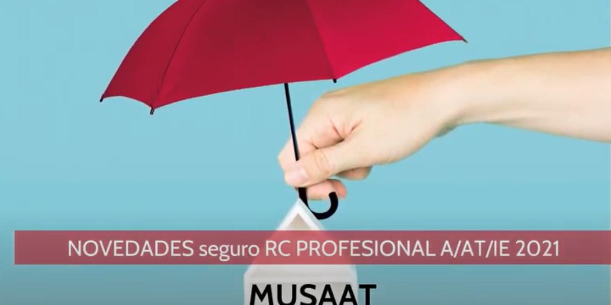 MUSAAT  elabora un vídeo con información sobre la renovación del seguro de RC profesional