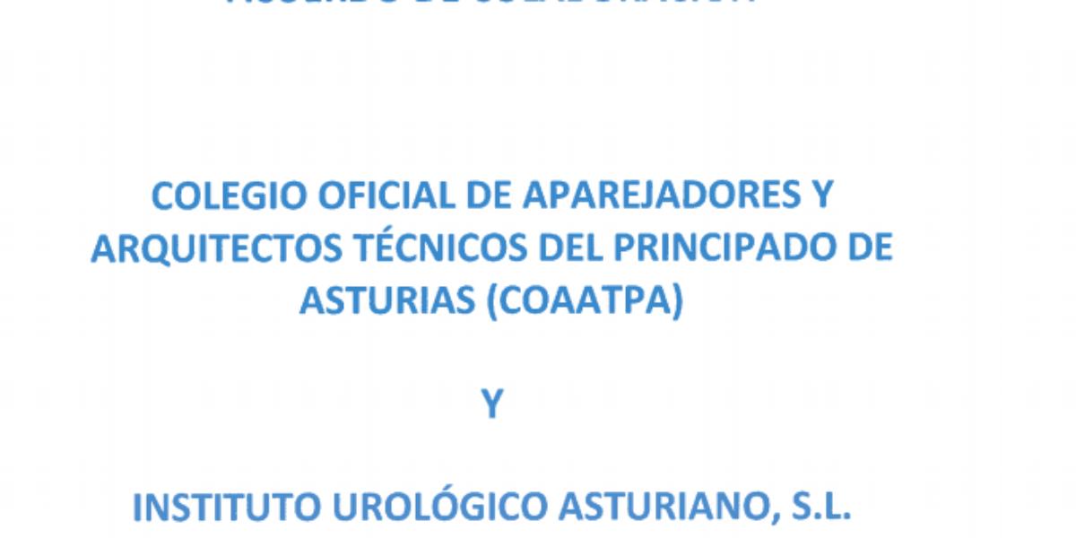 El Colegio firma un nuevo convenio de colaboración con el Instituto Urológico Asturiano